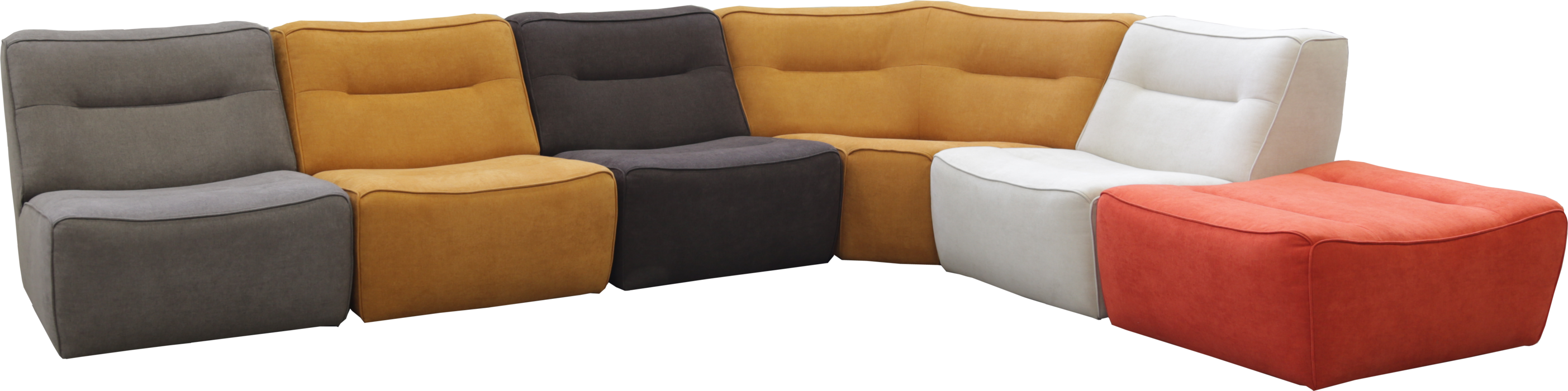 A4Contemporary Leather Sectional by Natuzzi Editions