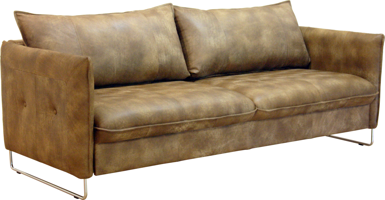 Sofa Bed Leather Light Brown Comfortable Home Design